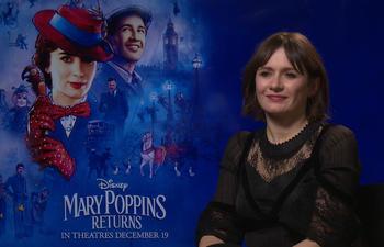 Entrevue vidéo : L'actrice Emily Mortimer nous parle du film Le retour de Mary Poppins